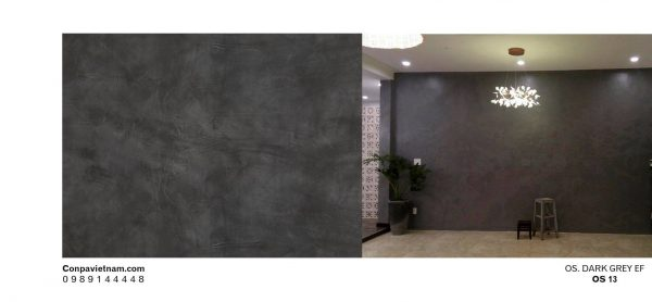 Dark grey effect OS13 - Design concrete paint