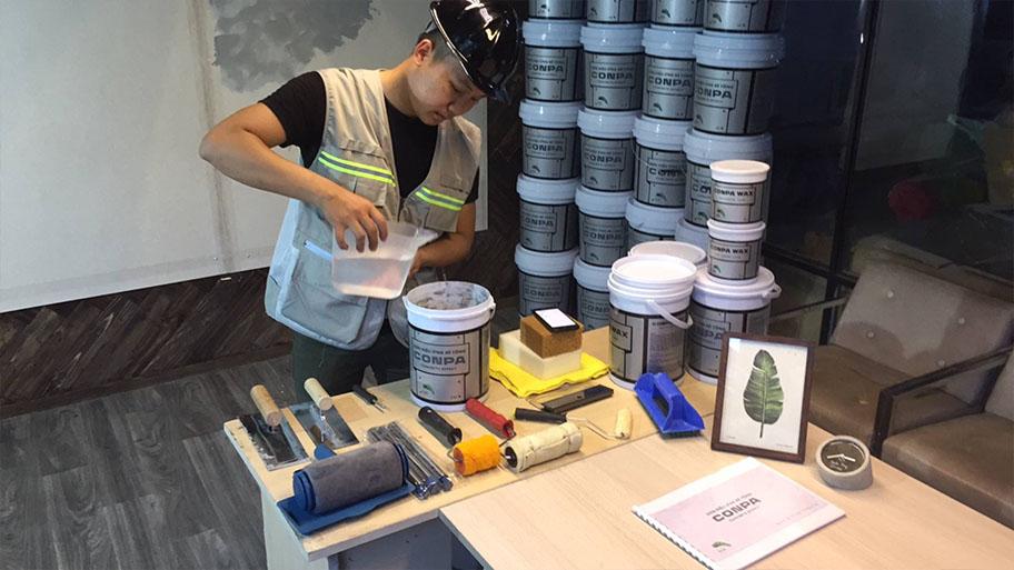 Chuẩn bị trước khi thi công sơn giả bê tông