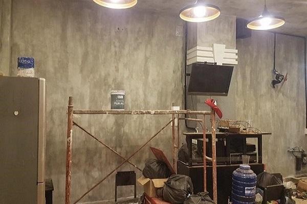 quy trình thi công sơn hiệu ứng bê tông