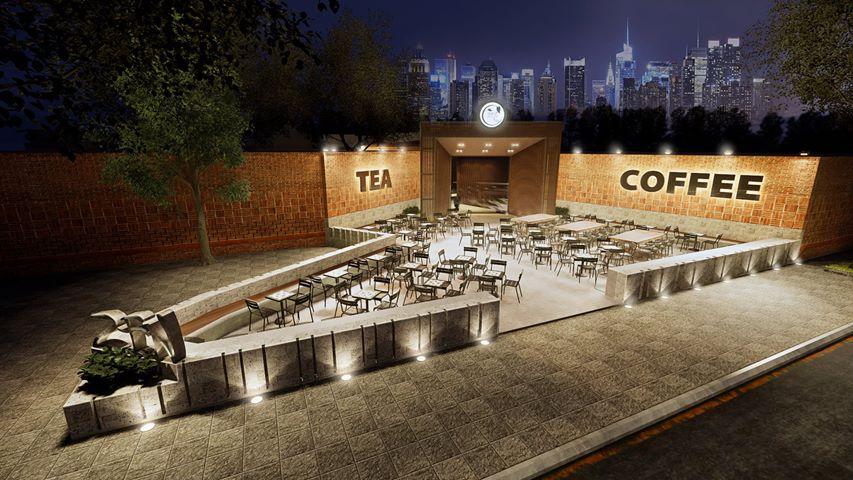 3D ngoài trời quán  ZEN Tea Coffee