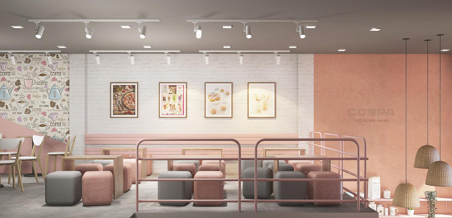 Sơn bê tông Conpa trang trí tiệm bánh mì Khánh Nguyên
