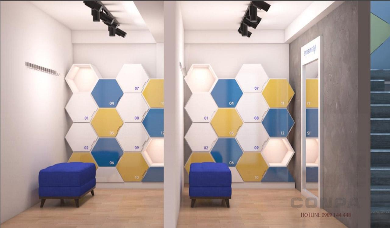 Samsung customer locker room