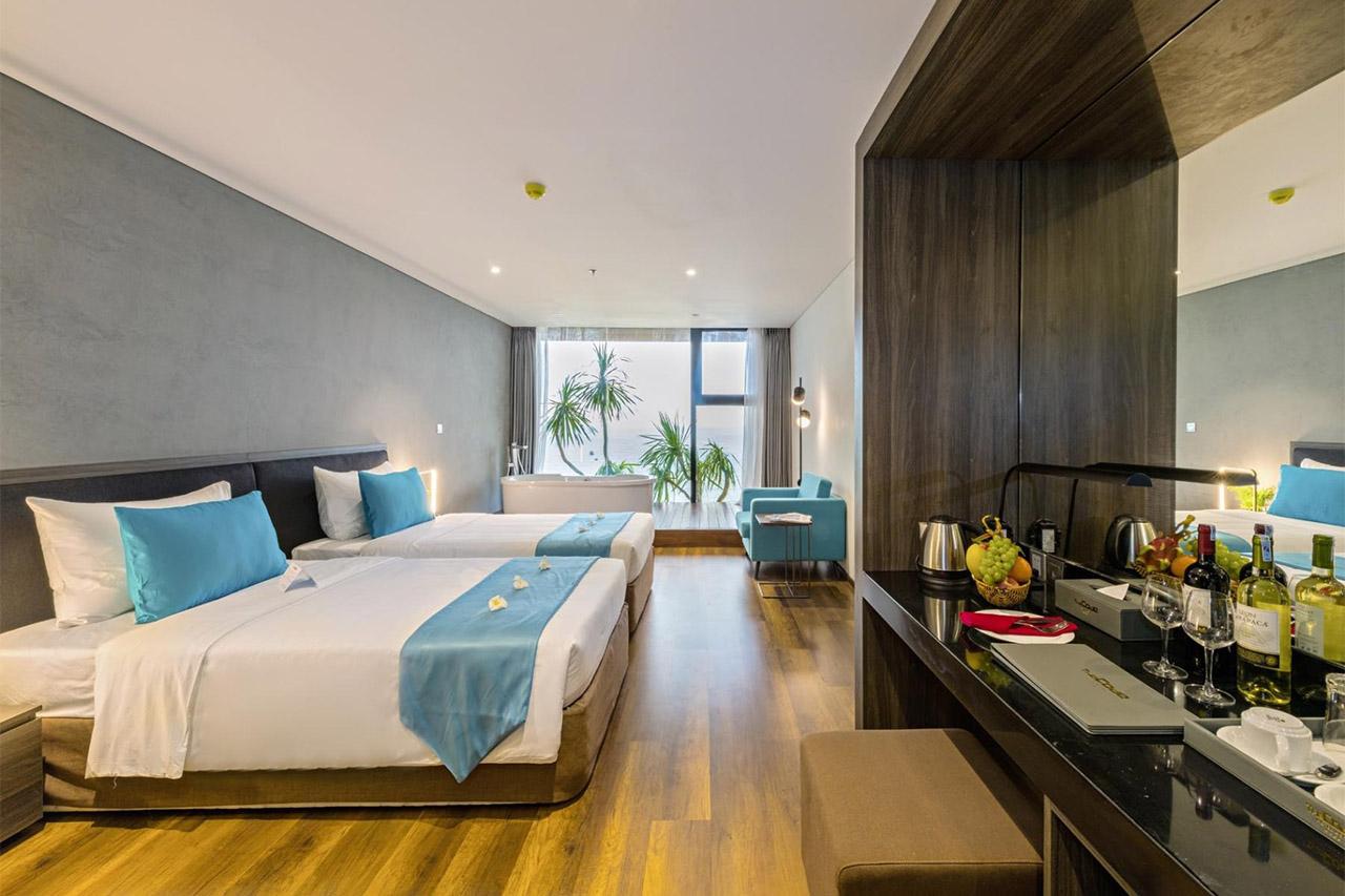 Thiết kế nội thất phòng khách sạn The Code Đà Nẵng