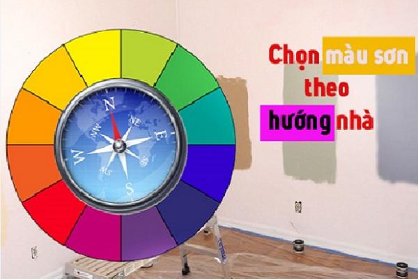 chọn màu sơn theo hướng nhà