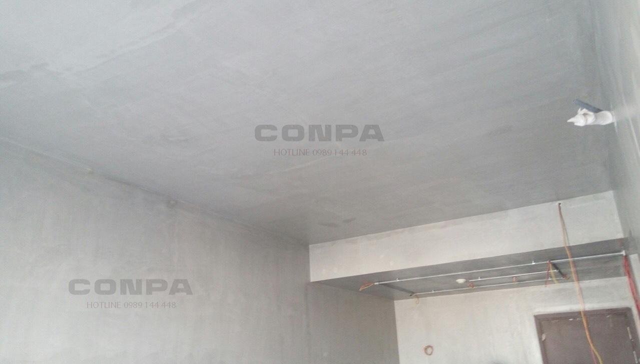 sơn giả bê tông trên trần nhà