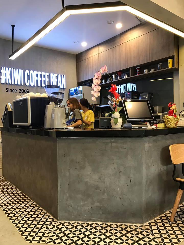 sơn hiệu ứng bê tông Conpa trang trí quán cà phê Kiwi