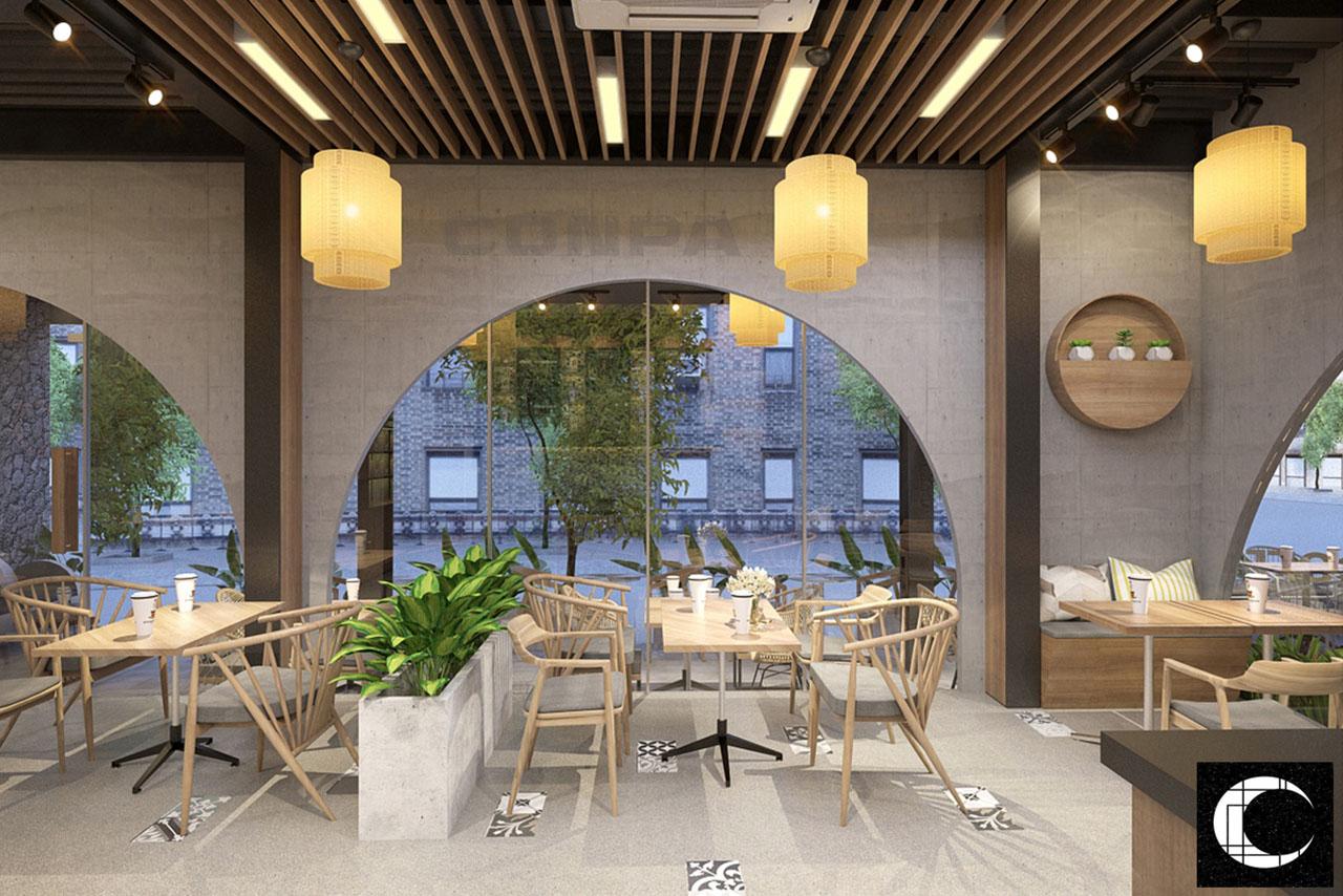 thiết kế không gian quán cà phê Magnolia Đà Nẵng