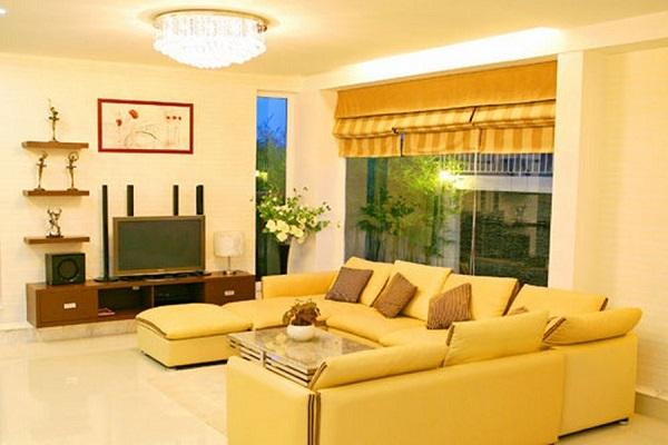 màu vàng cho phòng khách