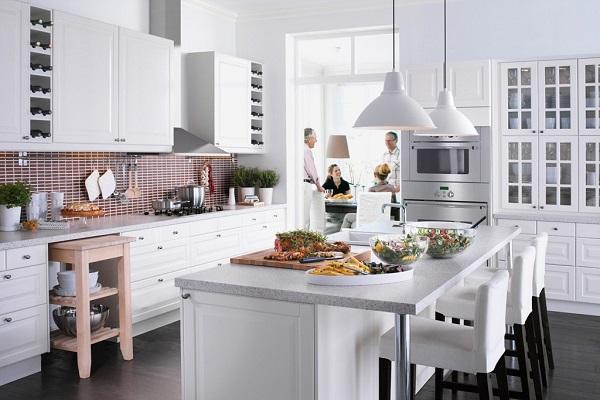 màu trắng cho căn bếp