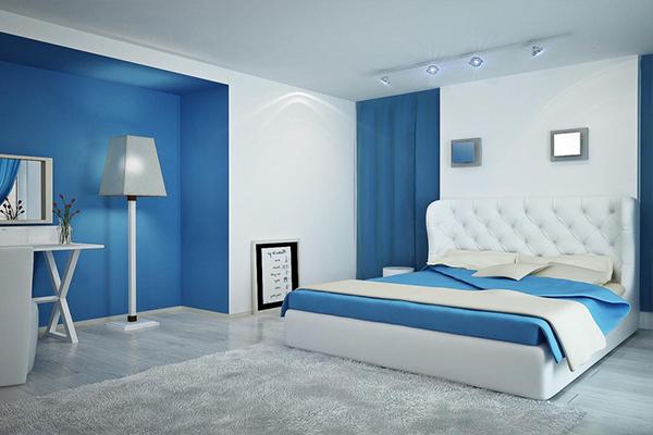 màu sơn xanh dương cho phòng ngủ