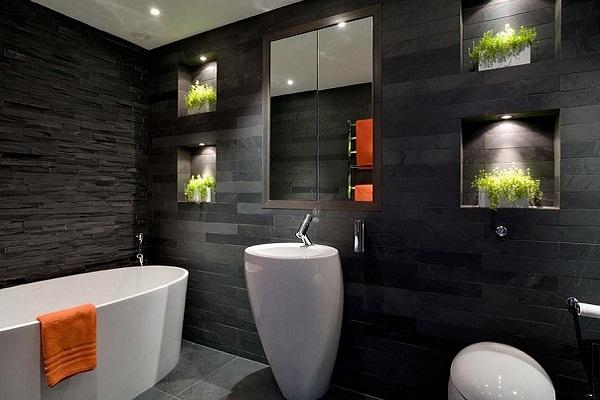 phòng tắm màu đen