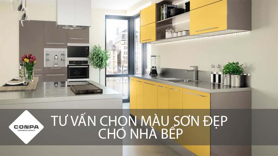 tư vấn chọn màu sơn đẹp cho nhà bếp