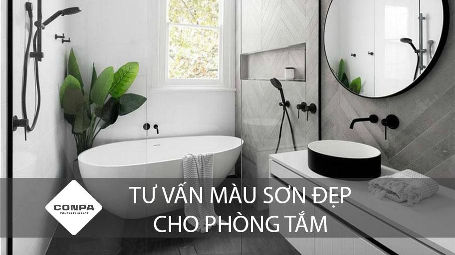 tư vấn màu sơn đẹp cho phòng tắm