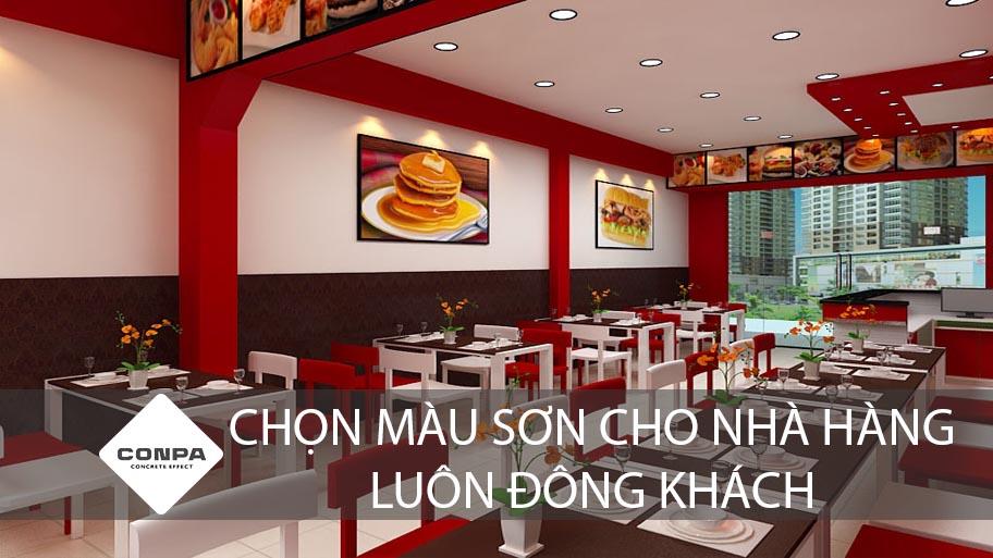 chọn màu sơn cho nhà hàng, quán ăn