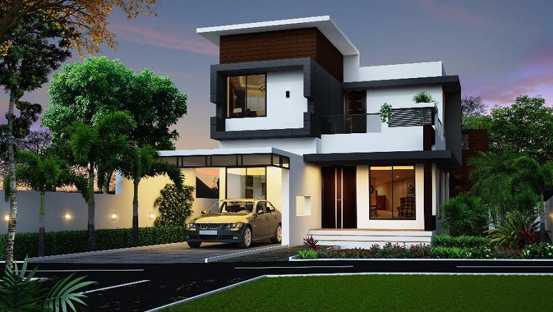 Mẫu thiết kế nhà 2 tầng đẹp lịm tim