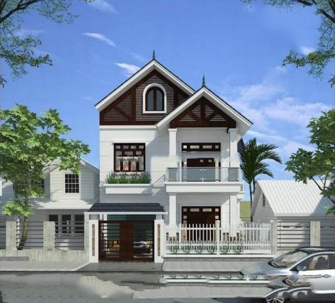 Thiết kế nhà phố 2 tầng mái thái
