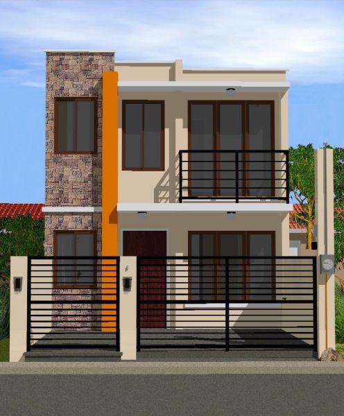 Nhà 2 tầng mái bằng thiết kế đơn giản