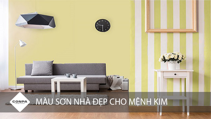 màu sơn nhà cho người mệnh kim