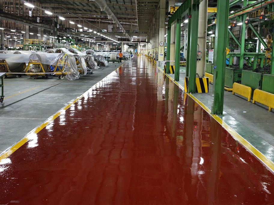 Nhà xưởng sử dụng sơn sàn PU Epoxy