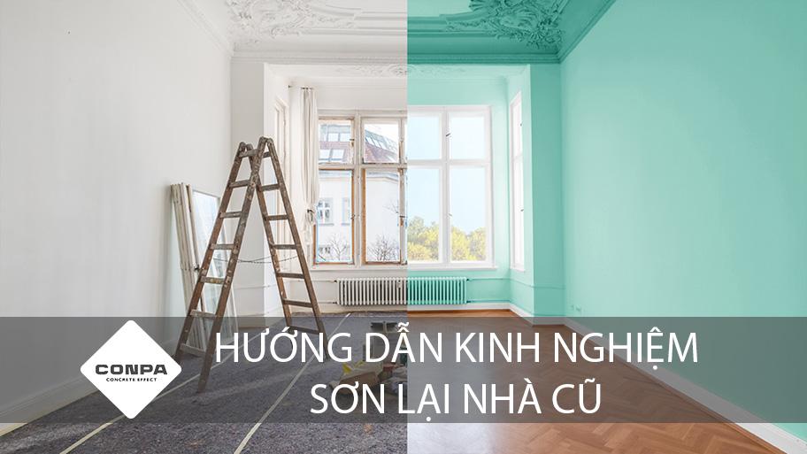hướng dẫn sơn lại nhà cũ