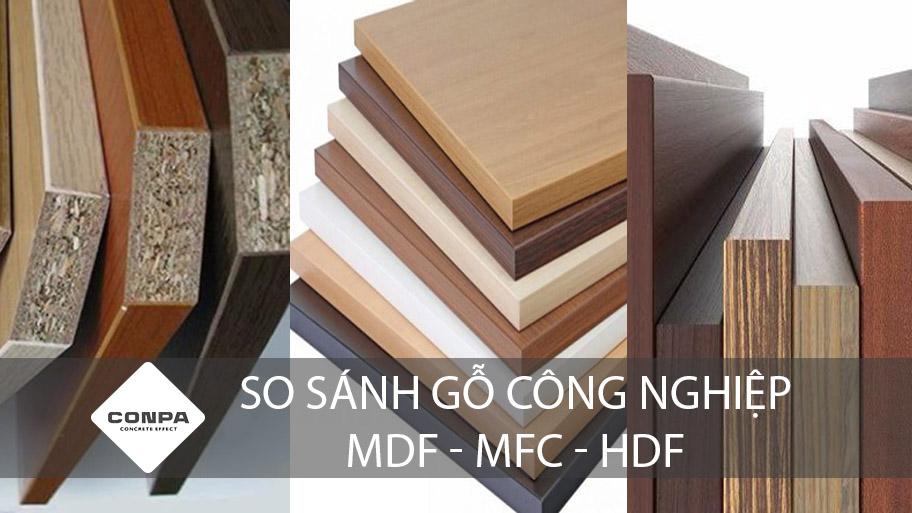 so sánh gỗ công nghiệp mdf mfc hdf