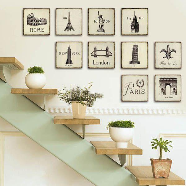 trang trí cầu thang phòng khách