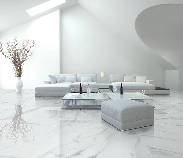 mẫu gạch lát nền cho phòng khách hiện đại
