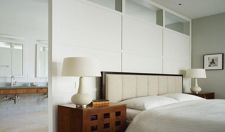 Vách ngăn phòng ngủ bằng nhựa với khả năng chống ẩm, chịu nhiệt tốt