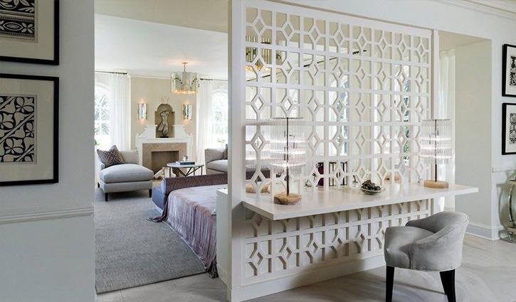 Vách ngăn phòng ngủ bằng nhựa với thiết kế hiện đại, đa dạng