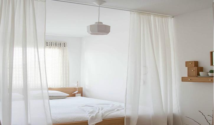 Vách ngăn phòng bằng vải vừa riêng tư vừa nhẹ nhàng tinh tế