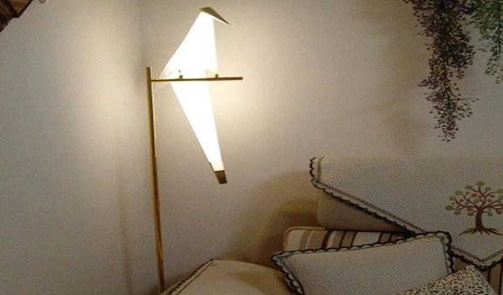 Đèn ngủ cây hình chim đậu độc đáo