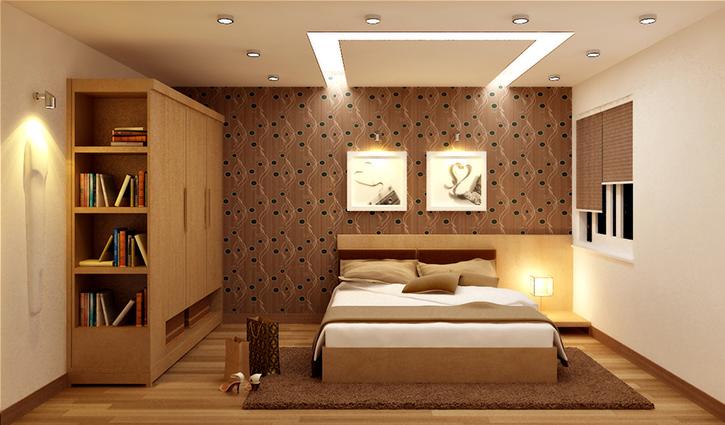 Đèn led âm trần cung cấp ánh sáng dịu nhẹ cho cả căn phòng