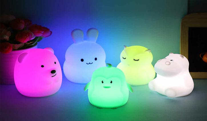 Đèn ngủ mini hình thú dễ thương cho bé yêu