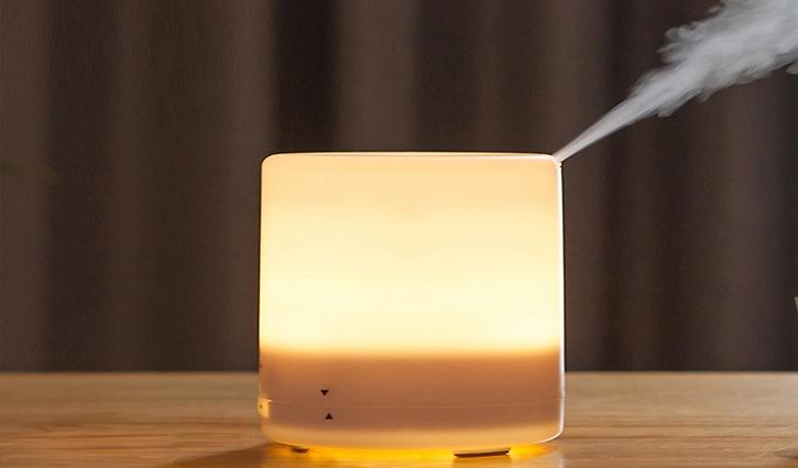 Đèn ngủ kết hợp máy khuếch tán tinh dầu thiên nhiên cho giấc ngủ sâu và thoải mái