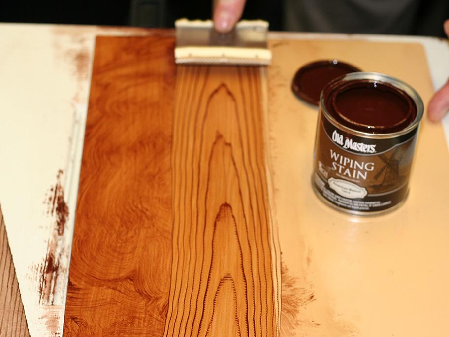 Thi công sơn giả gỗ trên tường
