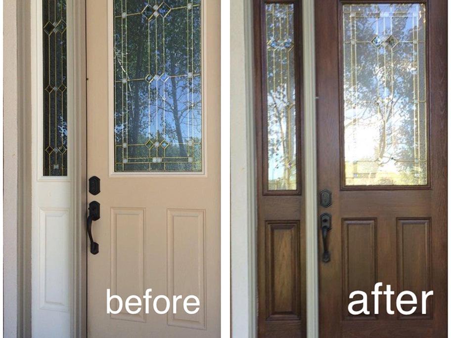 Sơn giả gỗ được dùng để sơn cửa