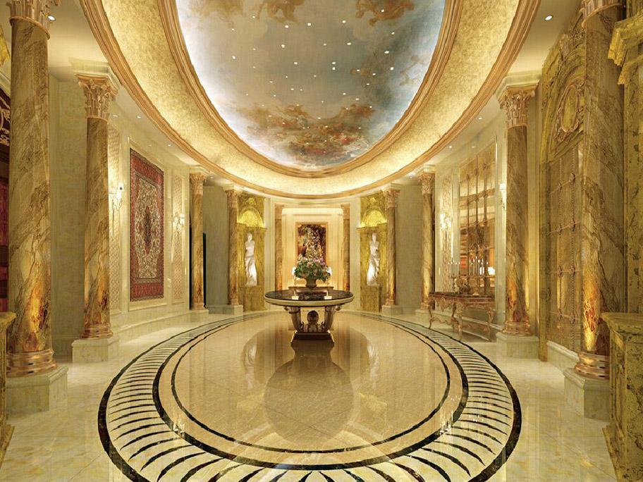 Khách sạn sử dụng sơn giả đá cẩm thạch sang trọng
