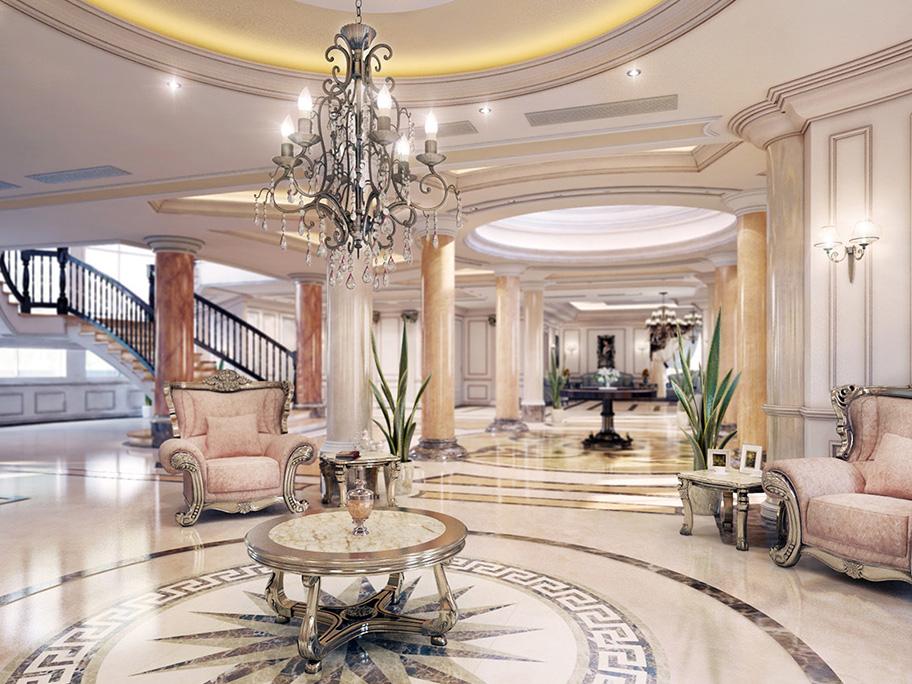 Khách sạn sử dụng sơn giả đá cẩm thạch