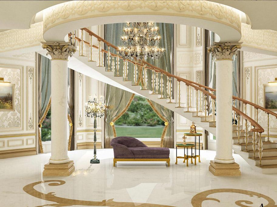 Sơn giả đá cẩm thạch trong khách sạn tạo nên vẻ đẹp sang trọng