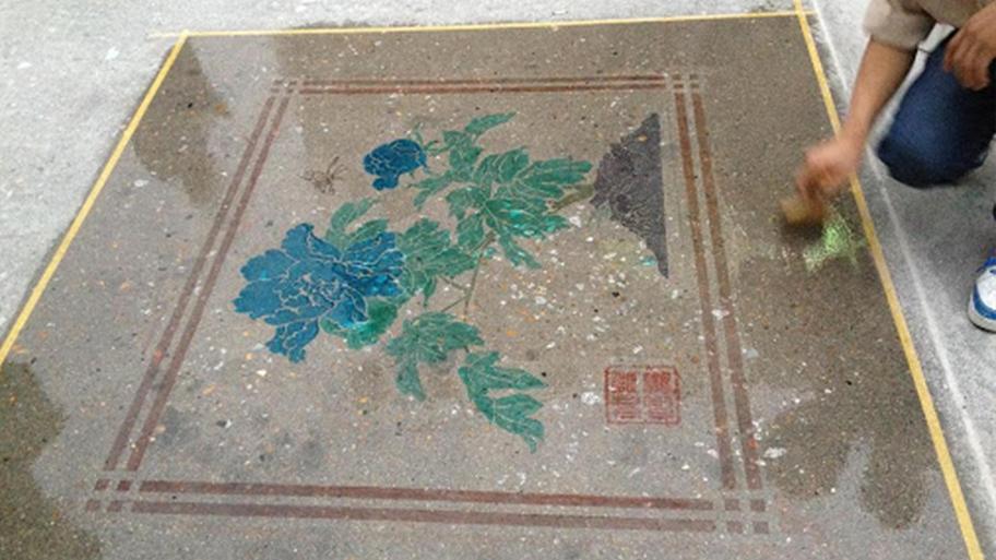 Nhuộm bê tông bằng màu nước