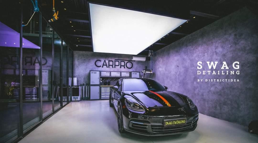 sơn giả bê tông swag detailing auto garage