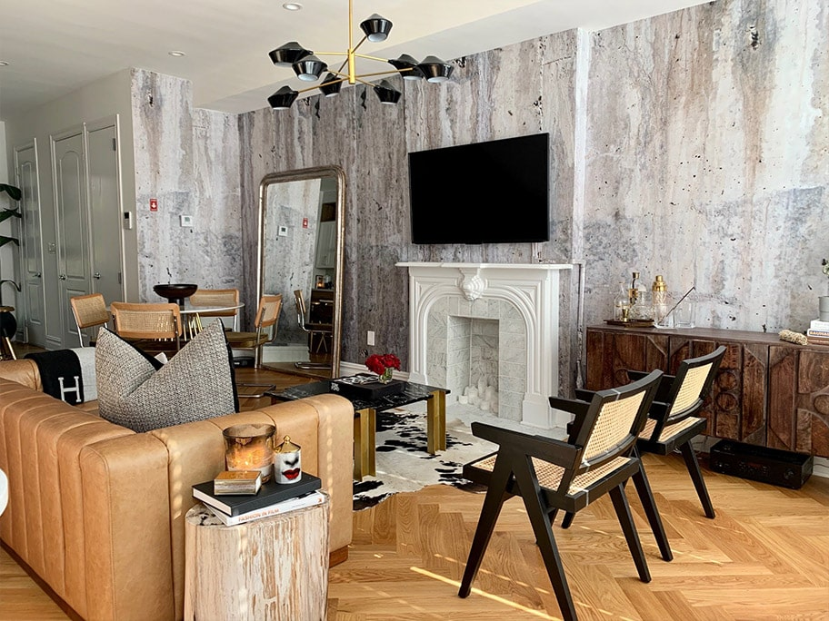 Giấy dán tường giả bê tông dùng trong nhà ở