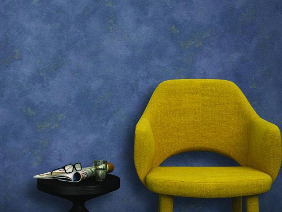 Giấy dán tường giả bê tông màu xanh đậm