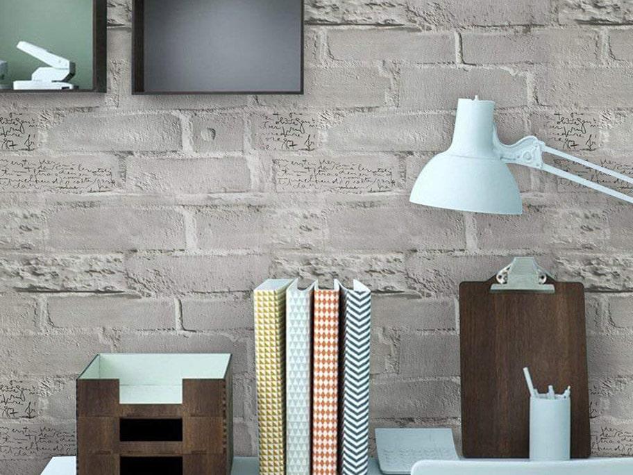 Giấy dán tường giả bê tông phù hợp sử dụng cho thư phòng