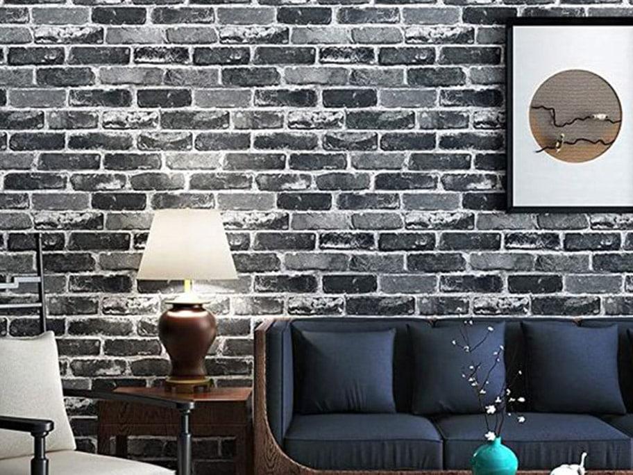 Giấy dán tường giả bê tông mang đến màu sắc mới mẻ, độc đáo