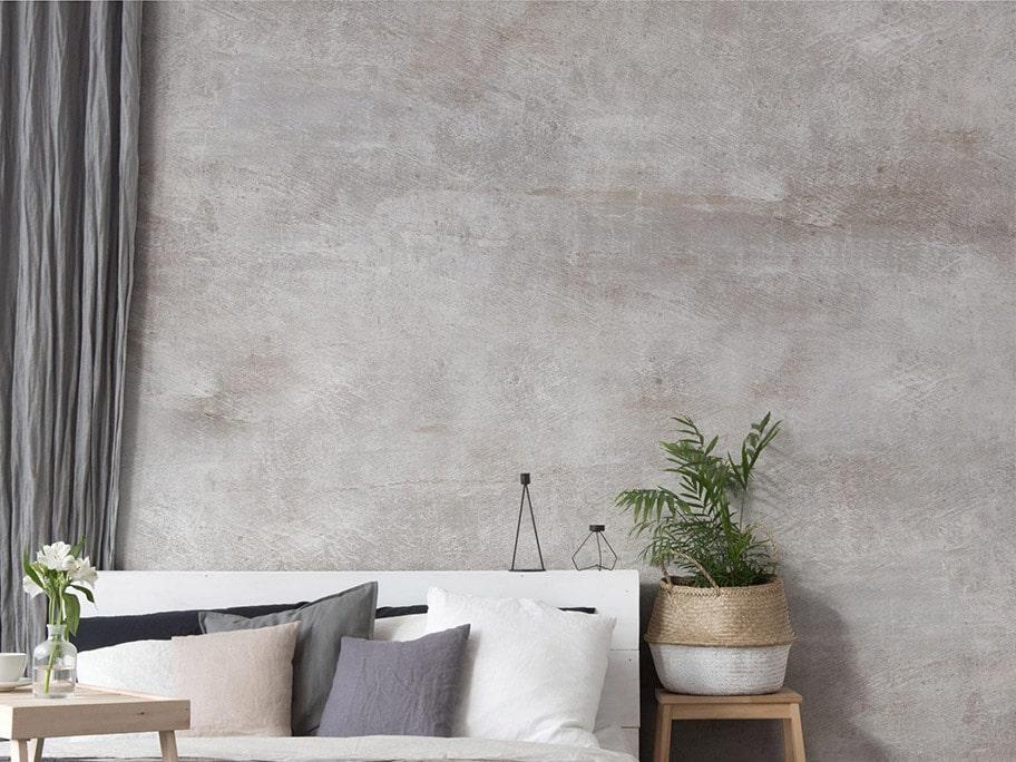Giấy dán tường giả bê tông dùng trong phòng khách