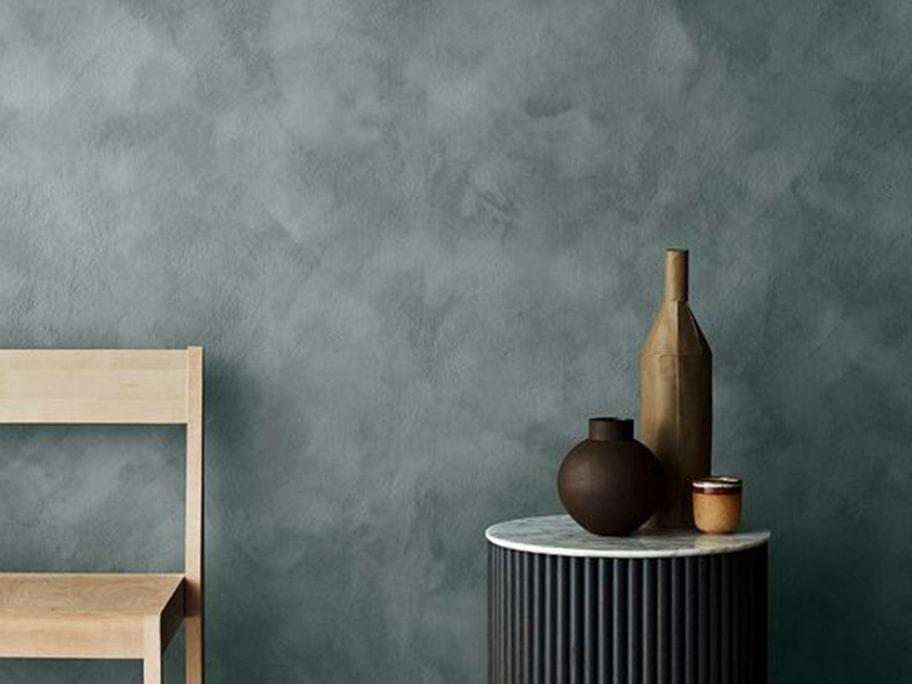 Công trình giấy dán tường màu xanh thẫm
