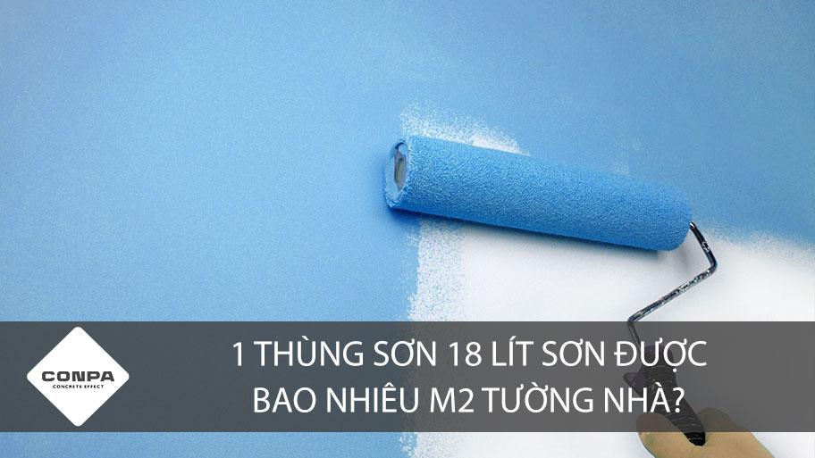 Một thùng sơn được bao nhiêu m2 tường nhà?