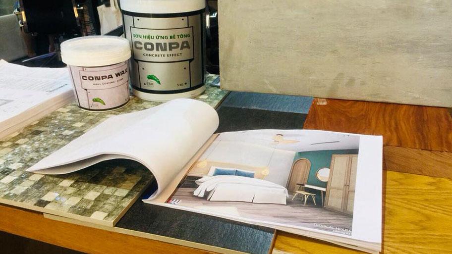 nghiên cứu sản xuất sơn Conpa độ bền màu tốt