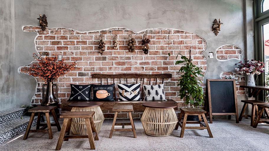 Thiết kế không gian đẹp sáng tạo sử dụng sơn giả bê tông